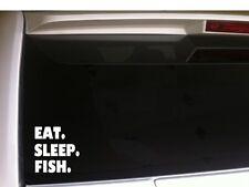"Eat Sleep Fishing car decal vinyl sticker 6"" B13 outdoorsman fisherman fish bass"