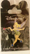 TINKERBELL with Jeweled Shoes and Wand Disney L PARIS DLRP DLP Glitter 2010 PIN
