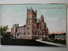 Court House Woodstock Canada Old Postcard