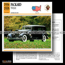 #047.04 PACKARD TWELVE (12) V12 1934-1935 - Fiche Auto Classic Car card