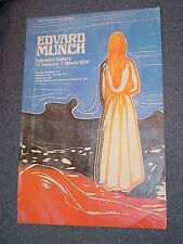 Vintage 1974 Edvard Munch Hayward Gallery Exhibition Poster