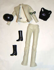 Barbie Fashion Faux Leather Jacket/Pants For Model Muse Barbie Doll hf00