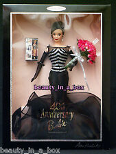 40th Anniversary Barbie Doll Brunette Signed Artist Ann Driscoll 1999 Convention