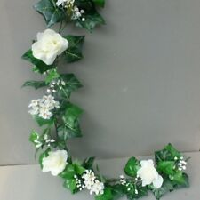 8FT! Artificial English Ivy, Roses&Blossom Garland Wedding/Festival Decoration