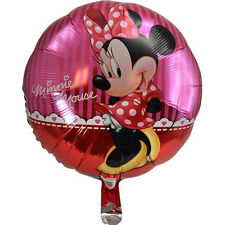 "12pcs Minnie Mouse Foil Balloons 18"" Balloon Birthday Party Decorations Favors"