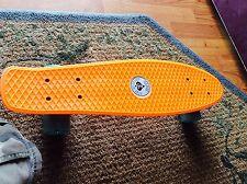 Fake GLOBE Adult Penny Style Gently Used SKATEBOARD!! Orange and Blue