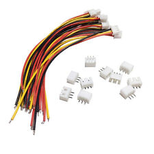 10Sets  JST XH 2.5-3 Pin Battery Connector Plug Female & Male with 120MM Wire