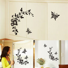 Butterfly Flower Bathroom Toilet Laptop Walls Decals Stickers Home Decor  MC