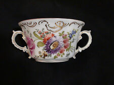 Hand Painted Floral Franziska Hirsch Dresden Two Handled tea Cup C. 1889 - 1917