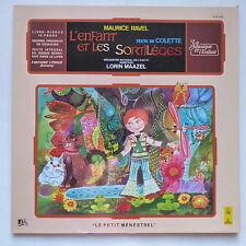 Livre disque RAVEL L enfant et les sortileges Texte COLETTE  LORIN MAAZEL 6041