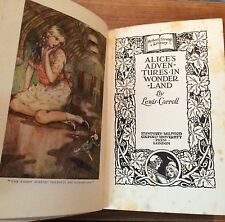 Vintage Book Early 1900s Alice's Adventures In Wonderland Lewis Carroll Rare