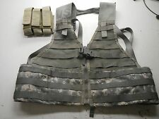 US Army MOLLE II FLC Fighting Load Carrier Vest ACU Digital Tactical LBV w Pouch