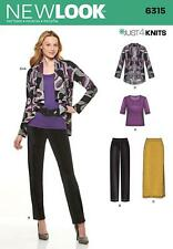 NEW LOOK SEWING PATTERN Misses' Knit Pants Skirt Top & Jacket SIZE 8 - 22 6315