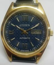 VINTAGE JAPAN MADE REFURBISHED CITIZEN AUTOMATIC DAY/DATE WRIST WATCH JO-5678