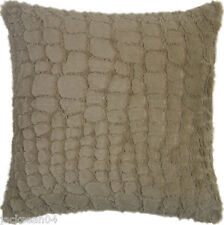 """FAUX FUR TAUPE EXTRA SUPERSOFT FLUFFY 22"""" WARM CUSHION COVER #ILLA"""