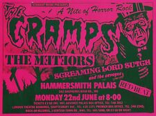 "The Cramps Hammersmith 16"" x 12"" Photo Repro Concert Poster"