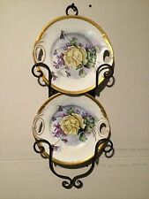 2 Gorgeous Vintage Limoges O.Gutherz Hand Painted Plates Artist Signed