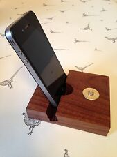 Holland & Holland shotgun shell cartridge cap solid walnut iPhone Stand Holder!!