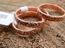 Pure Copper, etched pattern  ring for arthritis relief, size ,6, 7, or 7 1/2