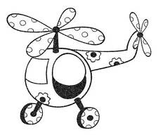 Unmounted Rubber Stamp Toy Helicopter