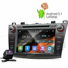 "For Mazda3 2010-2013 8"" Android 5.1 Car DVD Player GPS Navigation Headunit Cam e"