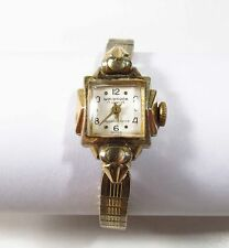 Vintage 1960s Wolbrook by Clinton Ladies 17 Jewel Mechanical Wristwatch Works