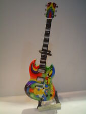 Miniature Guitar (24cm Tall) : ERIC CLAPTON PSYCHEDELIC SG