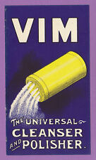 VIM  SOAP  -  VERY  RARE  ADVERTISING  CARD  -  C 1910
