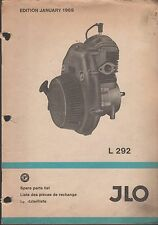 1969 JLO L 292 SNOWMOBILE ENGINE PARTS MANUAL  (162)