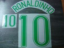 RONALDINHO #10 Brazil Home World Cup 2006 PU PRINT
