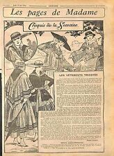 Pages Madame Fashion Mode Vêtements Robe Manteau Laine Zéphire Bonnet WWI 1916