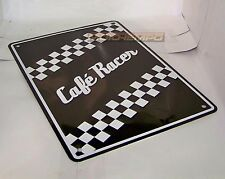 Cafe Racer Aluminio Pared Cartel novedoso Regalo Presente Idea previamente perforado Motocicleta