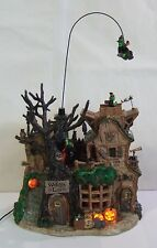 Lemax Spooky Town Halloween Witches Lair #45003 ANIMATED MUSIC LIGHT RARE Y490EX