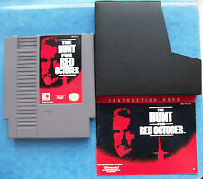 THE HUNT FOR RED OCTOBER NINTENDO NES w/MANUAL & SLEEVE TESTED ACTUAL PICS GOOD