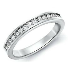 2.5mm 0.33Ct Round Diamond Channel set Half Eternity Ring made in 9k White Gold.