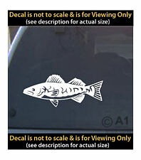 walleye vinyl 6 inch decal fishing boat lure  4 car truck home laptop fun more