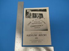 Vintage 1955 Town Of Brattleboro VT 100th Annual Auditors Report S1348