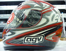 CASCO AGV TI TECH TATTOO S RED BLACK SILVER MOTORBIKE HELMET AGV CASQUE HELM