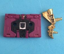 -- G1 Transformers - Decepticon Cassette - Original Sticker Ratbat - Gold Gun --
