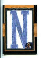 Carmelo Anthony 2007-08 Topps Letterman Auto Patch 1/9 Knicks Nuggets MT 26164