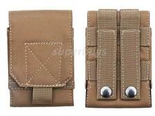 Tan MOLLE Tactical Cordura Mobile Phone Smartphone Cell Belt Pouch Bag Case L