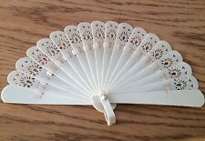 Fine Antique Victorian Hand Carved  Fan 1860-1880 Chinese Interest