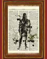 Snake Metal Gear Solid Dictionary Art Print Poster Picture Game