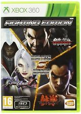 Fighting Edition (Tekken Tag T. 2 + Soul Calibur V + Tekken 6 )  XBOX 360 nuovo!