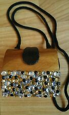 Timmy Woods Beverly Hills Wood Purse Clutch Vintage