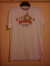 KICKERS WHITE T SHIRT SIZE L LARGE BRAND NEW WITH TAGS GREEN RED SPOTS MINT