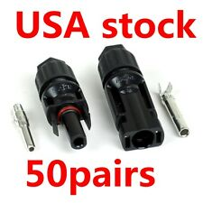 50pairs 30A MC4 Male Female M/F PV Wire Cable Connector Solar Panel USA