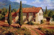 """Roger Williams """"Tuscan Cypress"""" open edition print - Italian Countryside, 24x36"""