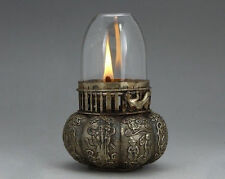 ASIAN OLD BEAUTIFUL CHINESE MIAO SILVER HANDWORK OIL LAMP IN GOOD CONDITION