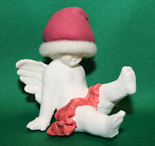 RUSS BERRIE VINTAGE 90's ANGELS OF LOVE SITTING ANGEL CHERUB CUPID XMAS FIGURINE